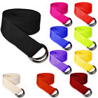 100% Cotton Stretching Yoga Strap  D-Ring Belt 180 cm Waist Leg Fitness Exercise