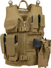 Kids Cross Draw Tactical Vest Camouflage Military MOLLE w/ Holster PouchesVests - 178080