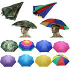 Foldable Sun Umbrella Hat UV Protection Fishing Camping Headwear Caps Golf Hats