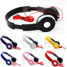 Foldable Stereo DJ Style 3.5mm Headphones Earphone Headset Over Ear MP3/4 IPOD