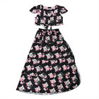 Family Women Baby Girls Floral Crop Tops Skirt Dress Sundress Clothes Summer luz