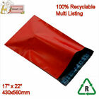RED Mailing Bags Poly Postal Packing 17
