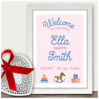 Personalised Welcome To The World Birth Details Gift Baby Boy Girl Newborn Baby
