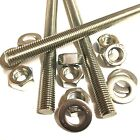 M12 A4 MARINE STAINLESS Threaded Bar + FULL NUTS + WASHERS - Rod Studding 12mm