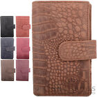 Ladies / Womens Leather Bi-Fold RFID Purse / Money / Coin Holder Croc Design