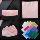 Mens Baby Pink Pocket Square Faux Silk Handkerchief, Hankie, Kerchief - Wedding