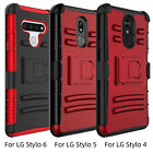 For LG Stylo 6/Stylo 5/4 Shockproof Case Belt Clip Holster Kickstand Armor Cover