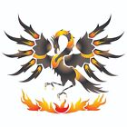 Phoenix Stencil Reusable Wall Painting Furniture Fabric Decoration Template