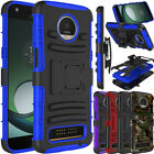 For Motorola Moto Z3 Play Phone Case Shockproof Belt Clip Holster Stand Cover