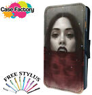 SEXY VAMPIRE LADY IN POOL OF BLOOD GOTH - Leather Flip Wallet Phone Case Cover