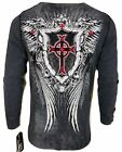 Xtreme Couture by AFFLICTION Men THERMAL T-Shirt DEATH DANCE Biker MMA Gym $58 image