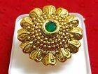 Traditional 18K Gold Indian Bridal Wedding Adjustable Finger Ring Women Jewelry