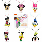 Mickey Cartoon Pvc Toy Charm Pendant Fashion Necklace Kids Craft Xmas Party Gift