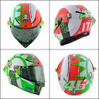 LTD EDITION VALENTINO ROSSI MUGELLO TRICOLORE MOTOGP AGV PISTA GP-R CRASH HELMET