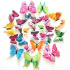 12Pcs Removable 3D Magnet Butterfly Refrigerator Sticker Wal