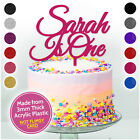 CUSTOM 1st Birthday Cake Topper One 1 Glitter ANY AGE Cake Smash Custom First