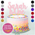 PERSONALISED 1st Birthday Glitter Cake Topper ANY AGE NAME Birthday CAKE SMASH