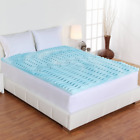 Memory Foam Mattress Topper Queen Full King Twin 2 inch Pad Bed Cover Orthopedic image
