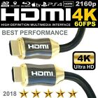 4K UHD High Speed 2.0b HDMI Cable| 3D +HDR +2160p +ARC +18Gbps HDTV Lead 1m-3m 5