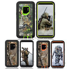 For Samsung Galaxy s9 / s9+ Defender Case With Holster Camo Clip Fits Otter box