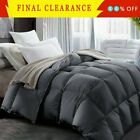 GOOSE DOWN ALTERNATIVE SUPERSOFT LUXURY COMFORTER KING QUEEN FULL MULTI COLORS