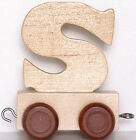 Personalised wooden name train : Use wooden letters to spell a personalised name <br/> Free Delivery + EU toys Safety CE