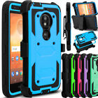 For Motorola Moto E5 Play/Cruise Phone Case Hybrid Clip Holster Kickstand Cover