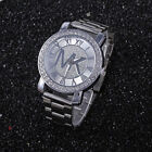 Fashion women men diamond crystal stainless steel wrist quartz watches