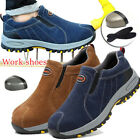 Mens Safety Shoes Steel Toe Work Boots Breathable Hiking Climbing Snakers Casual