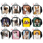 Back To School Lunch Bags Animal Dog Print Picnic Containers Kids Girls Food Bag