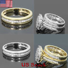Womens 18k Yellow Gold Plated Engagement Ring Ladies Wedding Gifts Couple Rings