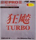 Nittaku Hurricane Pro 3 Turbo Orange Table Tennis Ping Pong Rubber (SALE)