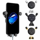 Smile Face 360° Rotating Gravity Mobile Phone Car Mount Air Vent Stand Holder D3