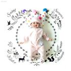 Baby Photo Blanket Baby The Clock Blanket Soft Cotton Swaddle Carpet 7248