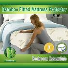 New Mattress Protector Waterproof Bamboo Soft Hypoallergenic Fitted Pad Cover image