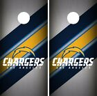Los Angeles Chargers Cornhole Skin Wrap NFL Football Team Color Vinyl Decal DR40 $59.99 USD on eBay
