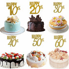 Happy Birthday Party Cake Topper Glitter 30th Anniversary Wedding Cake Decor Hs
