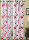 PEONY FLOWER GROMMET WINDOW CURTAIN LINED BLACKOUT PRINTED PANEL OR VALANCE