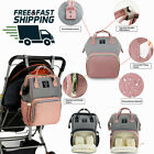 Waterproof Large Mummy Nappy Diaper Bag Baby Fashion Changing Nursing Backpack