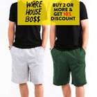 HI MENS WOMENS UNISEX PLAIN SWEAT SHORTS 3 POCKET CASUAL GYM FLEECE SHORTS SOFT