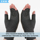 1 Pair Anti Arthritis Gloves Half-Hand Support Pain Relief Fingers Compression D