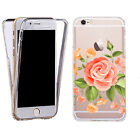 ShockProof 360 Silicone Case Cover for most mobiles- TPU salmon floral.
