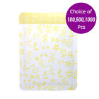 3x4.75in Matte Yellow Aluminium Mylar Open Top Pouch Bag for Facial Mask Y07
