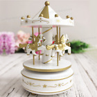 New Wooden Plastic Merry-Go-Round Carousel Music Box Toy Christmas Birthday Gift