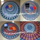 Indian Yoga Mat Round Mandala Table Cover Festival Wall Hanging Beach Throw