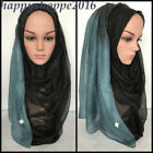Summer Voile Gradient Scarves Lady Shade Wrap Shawl Hijab Muslim Long Scarf Lot