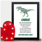 Personalised Dinosaur Will You Be Our Page Boy Ring Bearer Usher Poem Gifts