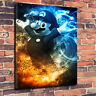 Supermario  Mario Abstract Canvas Picture Multiple Sizes 30mm Deep Frame
