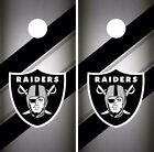 Oakland Raiders Cornhole Skin Wrap NFL Football Team Colors Vinyl Decal DR63 $39.99 USD on eBay