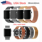 For Apple Watch Band Milanese Loop magnetic stainless steel With Adapter 38/42mm